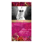 Thank You Photocard Indian Damask Pink Gold Card