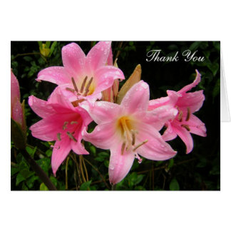 Thank You Photocards - Pink Lilies Card