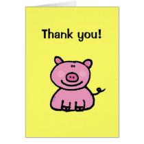 Thank you! (pig) card