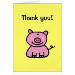 Thank you! (pig) greeting cards