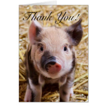 Thank you Piglet greeting card