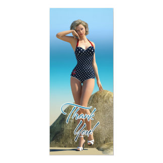 Thank You Pin Up Norma 4x9.25 Paper Invitation Card