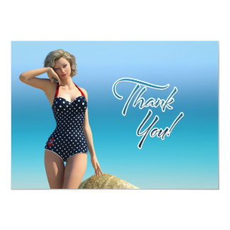 Thank You Pin Up Norma 5x7 Paper Invitation Card
