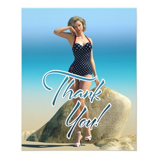 Thank You Pin Up Norma Flyer