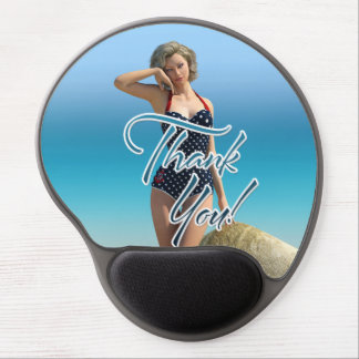 Thank You Pin Up Norma Gel Mouse Mats