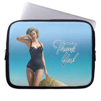 Thank You Pin Up Norma Laptop Computer Sleeve