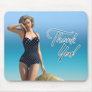 Thank You Pin Up Norma Mouse Pad