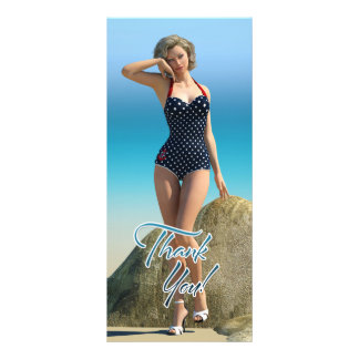 Thank You Pin Up Norma Rack Card