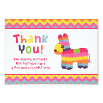 Thank You Pinata Mexican Fiesta Birthday Party Invitation
