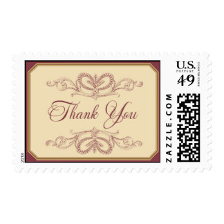 Thank You - pink 2 by Ceci New York Postage Stamps