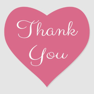 Professional Business Thank You Pink And White Heart Heart Sticker