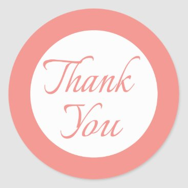 Professional Business Thank You Pink And White Wedding / Business Seals