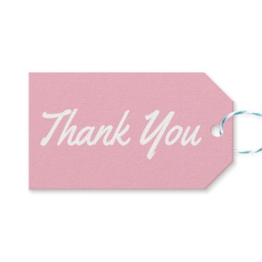 Professional Business Thank You Pink And White Wedding Party Gift Tags
