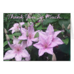 Thank You Pink Clematis Greeting Card