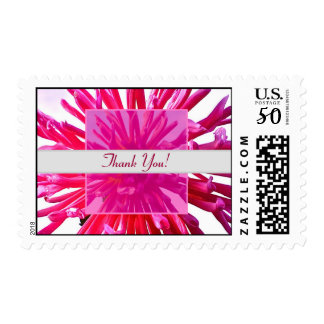 Thank You! Pink Dahlia Collage Postage