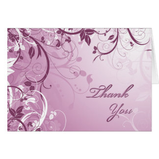 Thank You Pink Floral Card