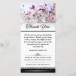 "Thank You Pink Flower Field Words Cannot Express<br><div class=""desc"">Thank You Funeral Field of Pink Flowers - Words Cannot Express  Customize with Your Text</div>"