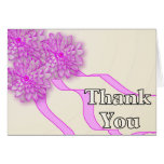 Thank You Pink Flowers Cards