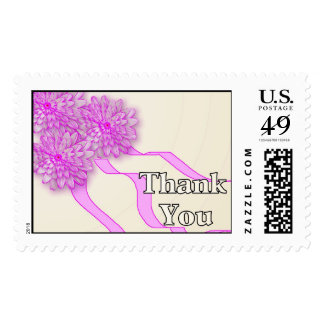 Thank You Pink Flowers Stamps