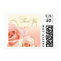 Thank You. Pink Roses Postage Stamps