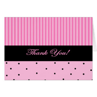 Thank You Pink Stripe Card