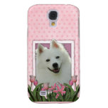 Thank You - Pink Tulips - American Eskimo Galaxy S4 Cover