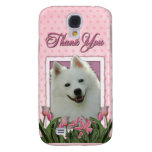 Thank You - Pink Tulips - American Eskimo Galaxy S4 Cases