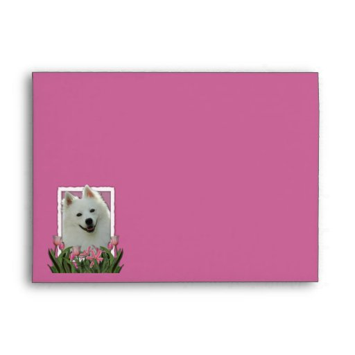 Thank You - Pink Tulips - American Eskimo Envelopes