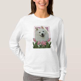 Thank You - Pink Tulips - American Eskimo T-Shirt