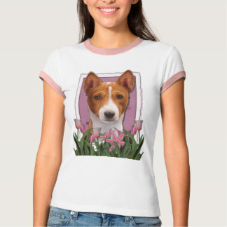 Thank You - Pink Tulips - Basenji T-Shirt