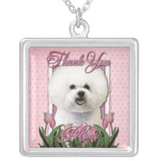 Thank You - Pink Tulips - Bichon Frise Custom Jewelry