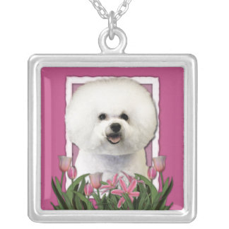 Thank You - Pink Tulips - Bichon Frise Custom Necklace