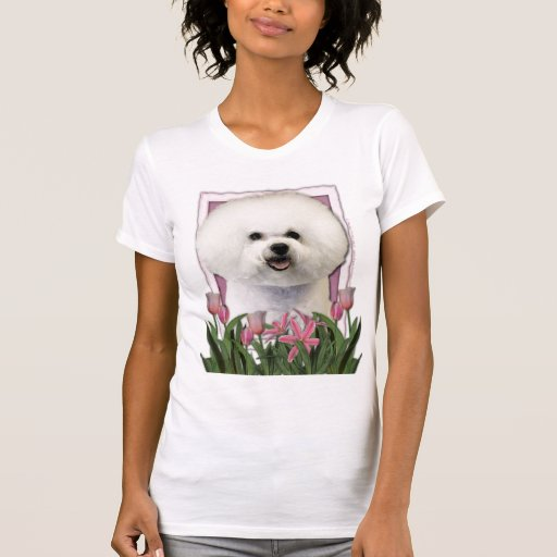 Thank You - Pink Tulips - Bichon Frise T-shirt