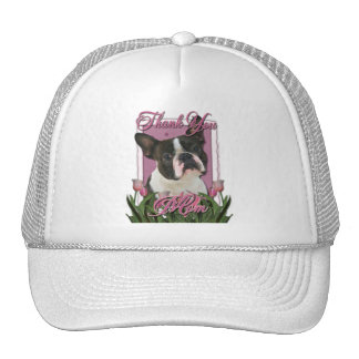 Thank You - Pink Tulips - Boston Terrier Trucker Hat