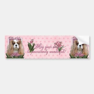 Thank You - Pink Tulips - Cavalier - Blenheim Bumper Sticker