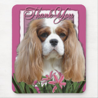 Thank You - Pink Tulips - Cavalier - Blenheim Mouse Pad