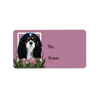 Thank You - Pink Tulips - Cavalier - Tri-Color Address Label