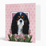 Thank You - Pink Tulips - Cavalier - Tri-Color Vinyl Binders