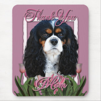 Thank You - Pink Tulips - Cavalier - Tri-Color Mouse Pad