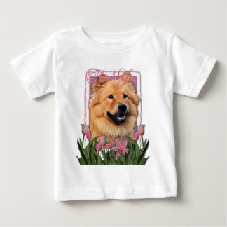 Thank You - Pink Tulips - Chow Chow - Cinny Baby T-Shirt