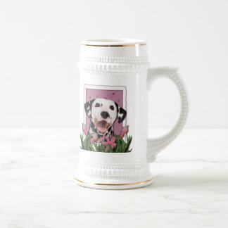 Thank You - Pink Tulips - Dalmatian Mug