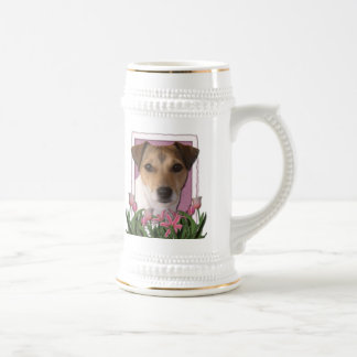 Thank You - Pink Tulips - Jack Russell Mugs