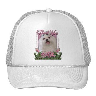 Thank You - Pink Tulips - Maltese Trucker Hat