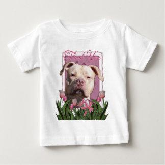 Thank You - Pink Tulips - Pitbull - Jersey Girl Baby T-Shirt
