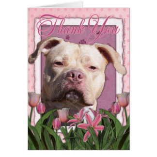 Thank You - Pink Tulips - Pitbull - Jersey Girl Card