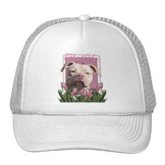 Thank You - Pink Tulips - Pitbull - Jersey Girl Trucker Hat