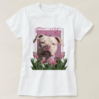 Thank You - Pink Tulips - Pitbull - Jersey Girl T-Shirt