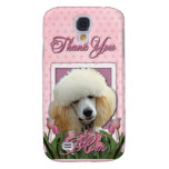 Thank You - Pink Tulips - Poodle - Apricot Samsung Galaxy S4 Cover