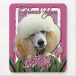 Thank You - Pink Tulips - Poodle - Apricot Mouse Pad