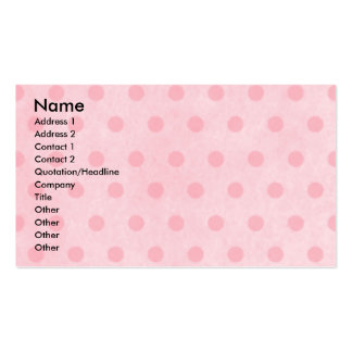 Thank You - Pink Tulips - Poodle - Chocolate Double-Sided Standard Business Cards (Pack Of 100)